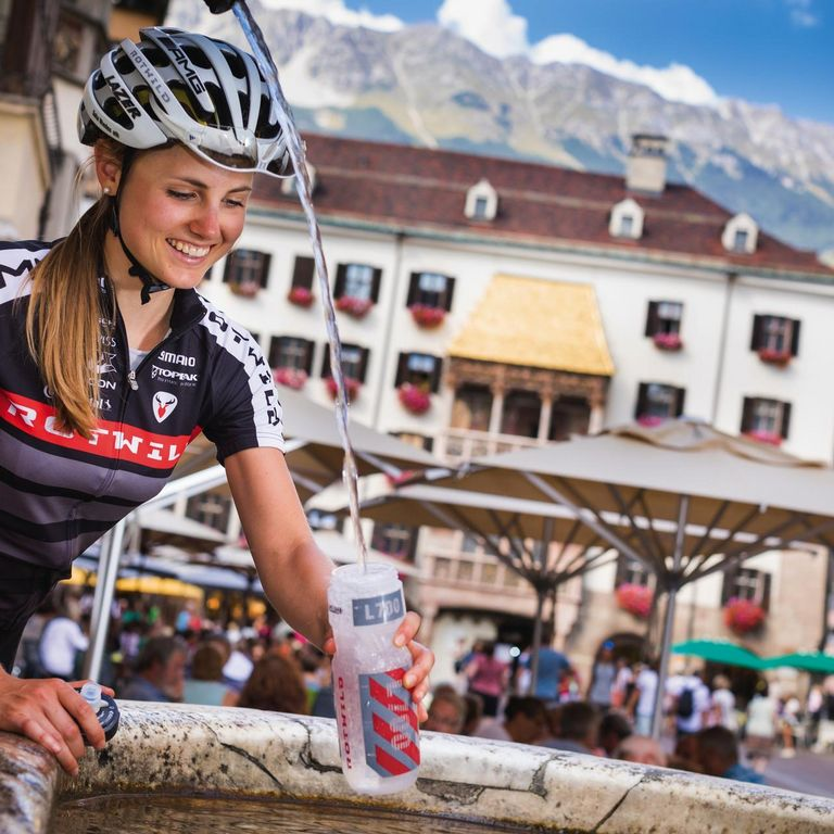 Water on the go: you can find top-quality drinking water in many places throughout Innsbruck and the surrounding villages.