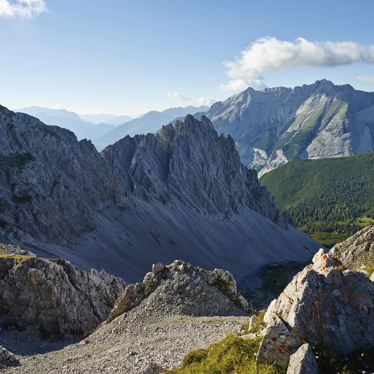 Looking out over the Karwendel mountains