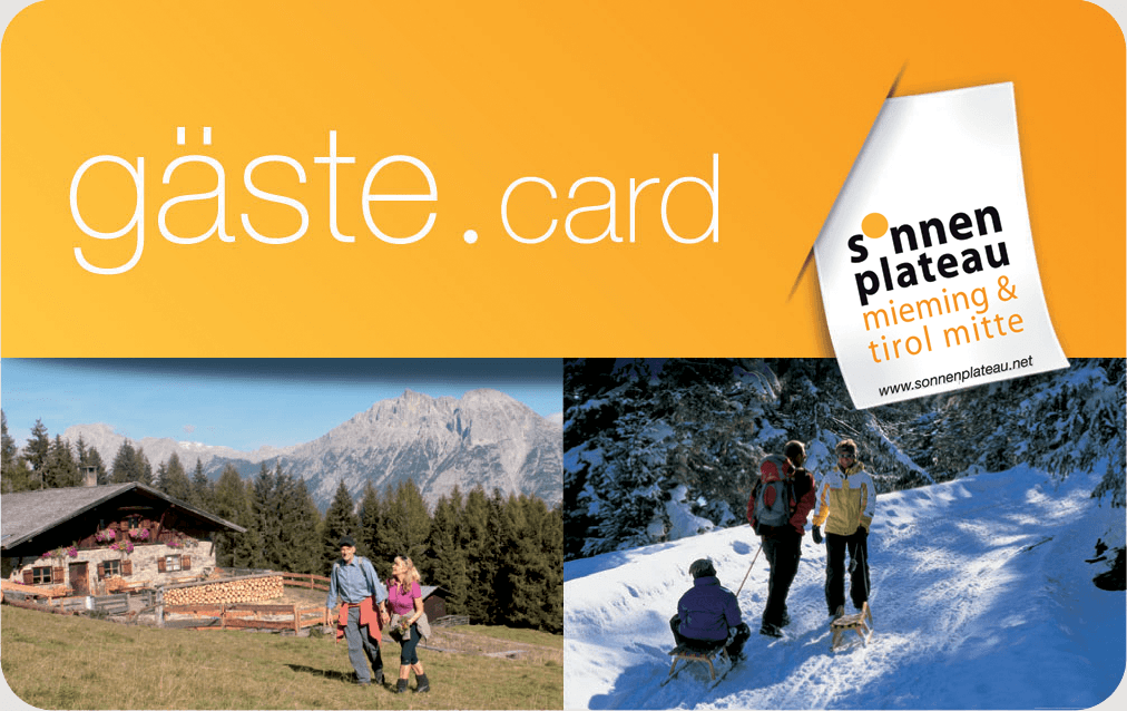 guest.card Sonnenplateau Mieming & Tirol Mitte