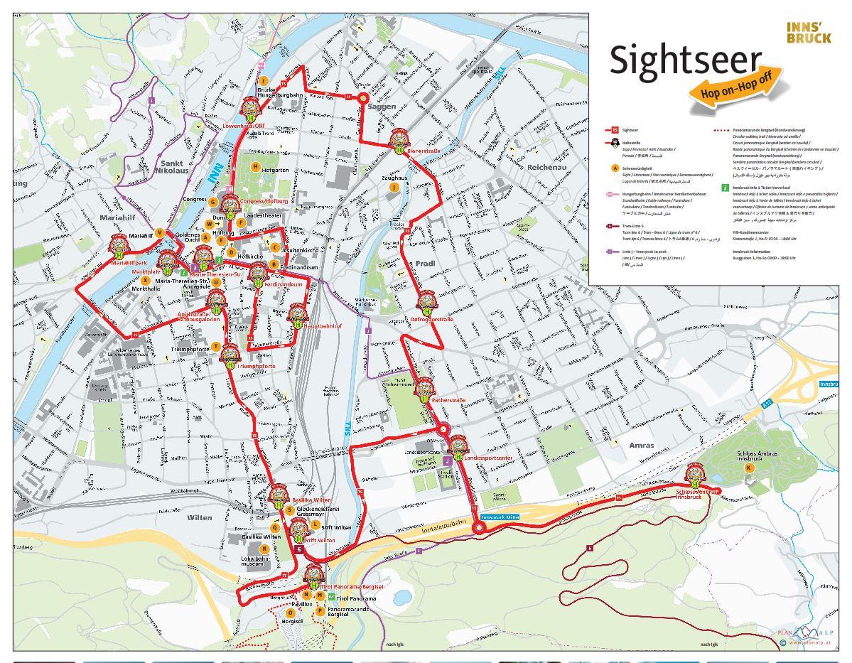 The Sightseer hopon hopoff bus Innsbruck