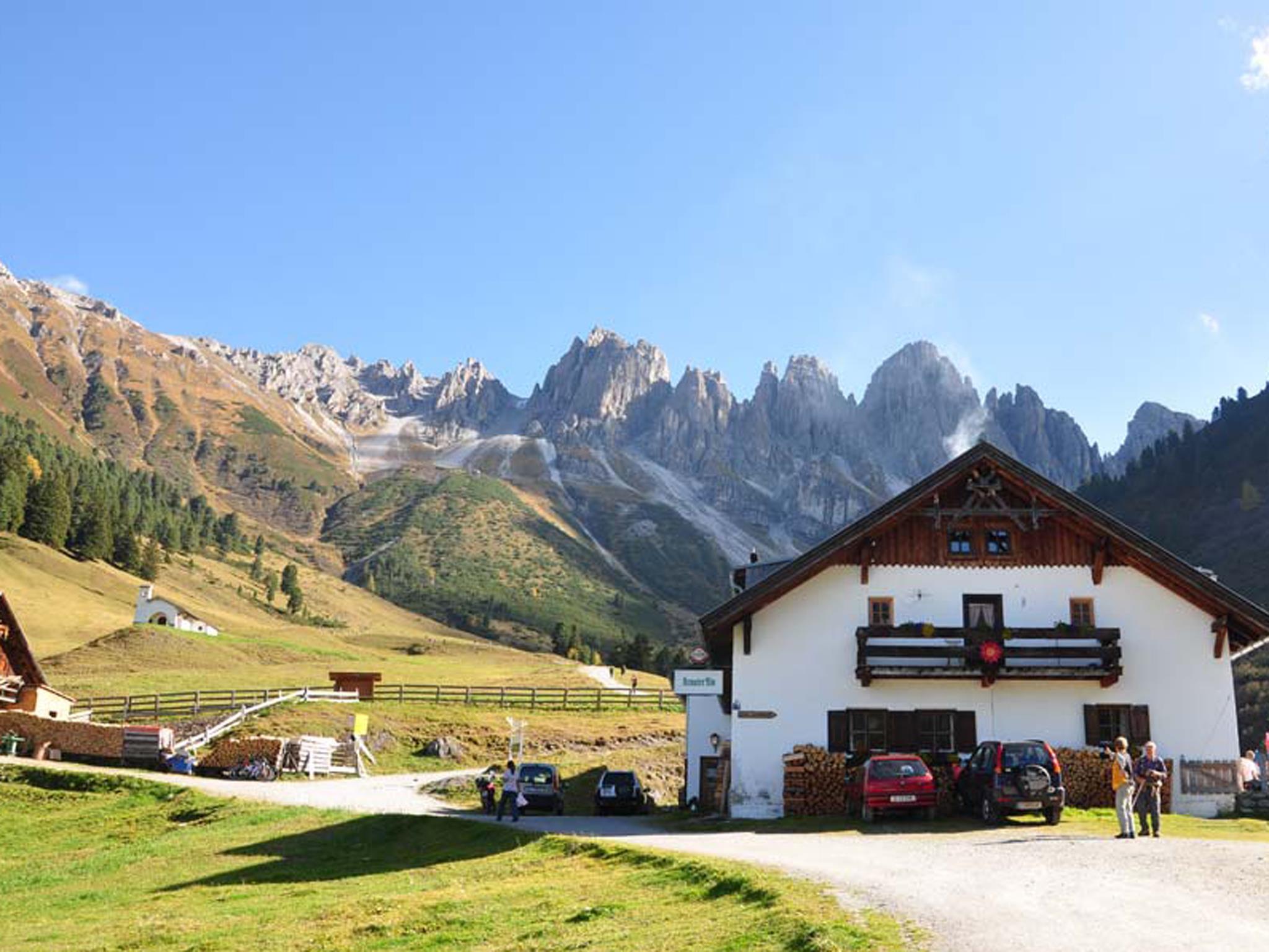 Alpengasthof Kemater Alm im Sommer